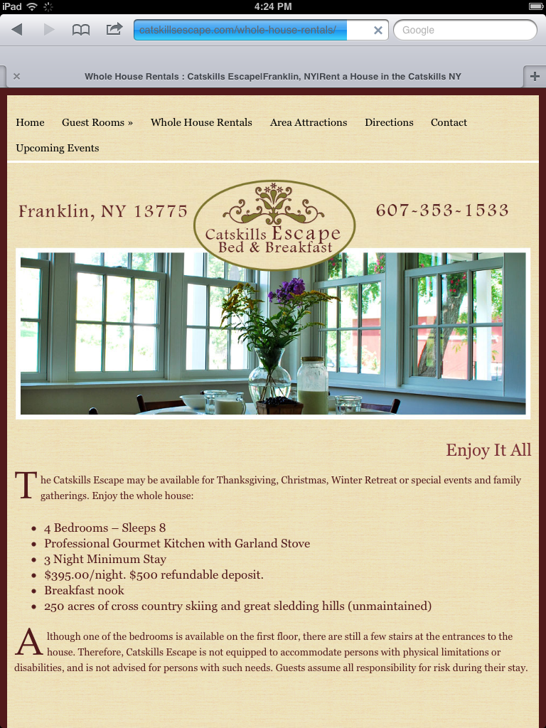 Responsive WordPress Bed and Breakfast Theme